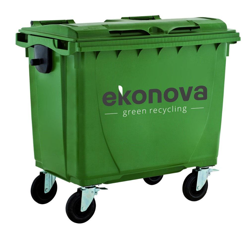Ekonova konteineriai nuomai 1100 litrų